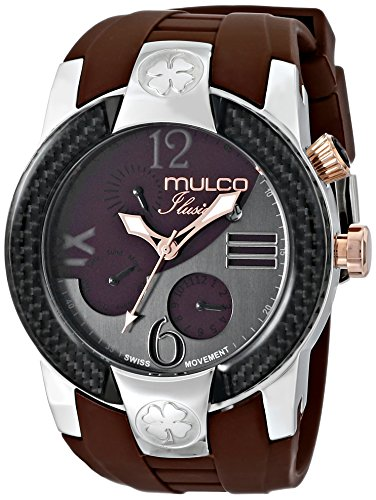 Mulco MW5-1877-035 - Reloj de pulsera unisex, Silicona, color Marrón