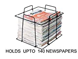 RAVIRAJ Multipurpose Folding Newspaper Bin; Wire Metal Basket; Storage Bin; 38 x 32