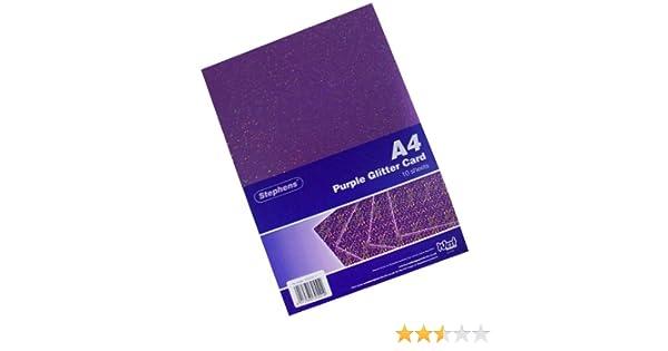 Stephens Lot de 10 feuilles cartonn/ées paillet/ées Couleurs assorties Format A4 220 g//m/²