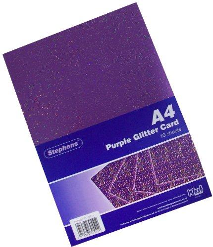 Stephens Glitzer-Karton, A4, 220 g/m², Violett