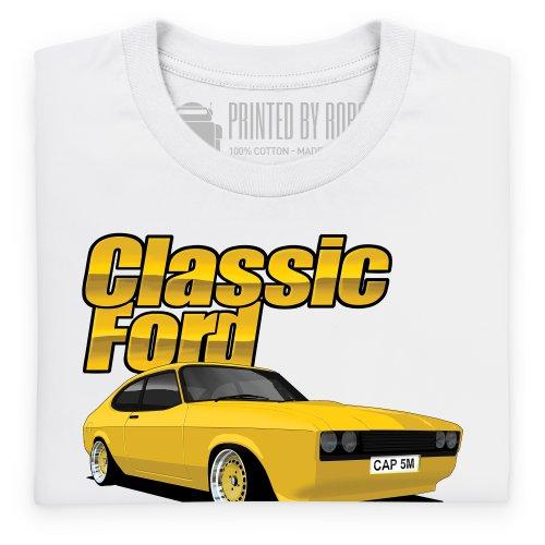 Classic Ford Capri T-Shirt, Damen Wei