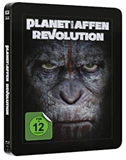 Planet der Affen - Revolution - Limited Lenticular Steelbook Edition (Deutsch) 3D Blu-ray (+2D) (inkl. 36 seitigem Collectors B