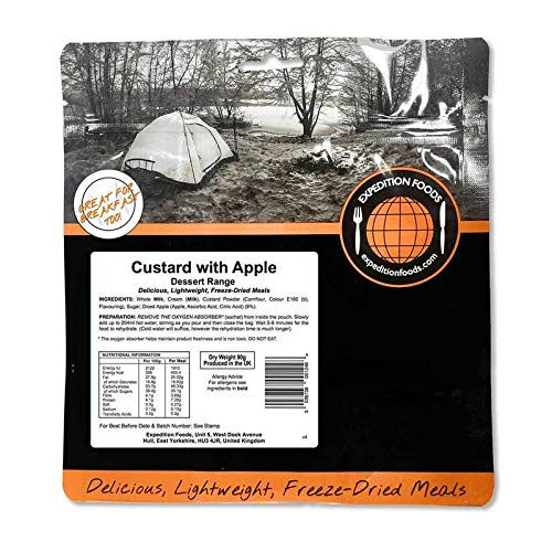 Expedition Foods Custard with Apple (Dessert Range) - Freeze Dried Meal