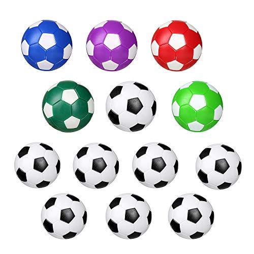 13Stück Tischfußball Kickerbälle, Kicker Bälle aus ABS hart und schnell, Durchmesser 31mm,36 MM, Schwarz Weiß,Farbe Tischfußball Kugeln Mini Ball,Tischfußball Ersatzbälle 13pcs Farbige Tischfußball