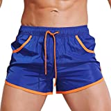 QinMM Männer Breathable Badehose Hosen Badebekleidung Shorts Slim Wear Bikini Badeanzug (Asian Size:L, Marine)