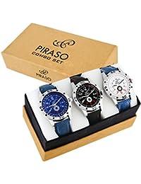 Piraso Analog Premium Combo Set of 3 Watches - for Men
