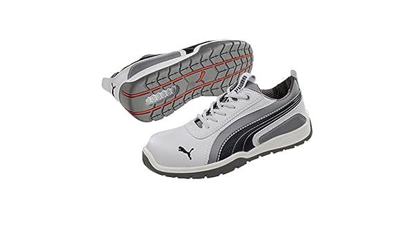 Puma Monaco Low S3 Hro Src, Puma, Chaussures de sports mixte adulte, Weiß (weiß/grau 100), 43 EU
