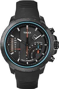 Timex Intelligent Quartz Herren-Armbanduhr Chronograph silikon schwarz T2P272D7