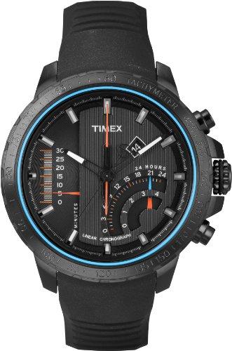 Timex T2P272AU Orologio da Polso, Cronografo da Uomo, Cinturino in Silicone, Colore Nero