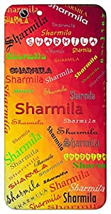 Sharmila (Shy) Name & Sign Printed All over customize & Personalized!! Protective back cover for your Smart Phone : Samsung Galaxy E-7