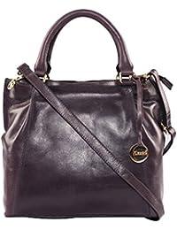 Klasse Genuine Leather Women's Cross Body Sling Bag With Tassel And Handle
