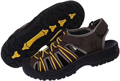 SNRD 210 Casual mixte de suivi à bout fermé Outdoor Sandals Marron - marron