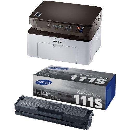 Samsung SL-M2070W/XEC 3-in-1 schwarz/weiß Laser Multfunktionsgerät (WLAN, USB) inkl. Starter-Toner + Extra Original-Toner
