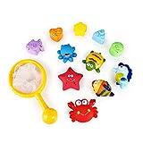SainSmart Jr. BadeSpielzeug Baby Kinder BadeSpielzeug Spielzeug für Badewanne 12- teilig Badeset Fishing Set Bade-Spritztiere Set aus weiches Material