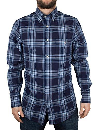 Gant Herren Telltail Madras Ausgestattet Kariertes Hemd, Blau Blau