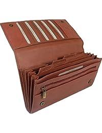 New large Visconti soft brown leather RFID anti fraud passport travel wallet organiser bag style 1179