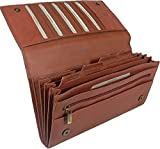 New large Visconti soft brown leather RFID anti fraud passport travel wallet organiser bag style 1179