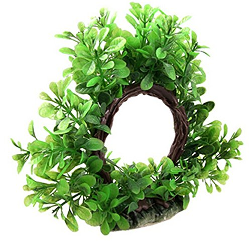 KingWinX Green Artificial Plastic Plants for Aquarium Fish Tank Ornament,30cm 1