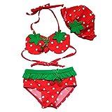 vlunt Enfant Maillot de bain Bikini avec bouchon pour enfants pour enfant bébé fille garçon 1–6ans