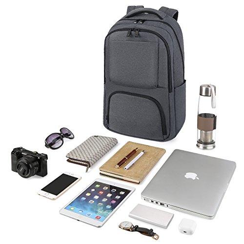 119d12d609b4b ... REYLEO Rucksack Herren und Damen 15.6 Zoll Laptop Daypack Business  Backpack Tagesrucksack für Uni Reise und ...