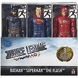 DC JUSTICE LEAGUE BATMAN - SUPERMAN - THE FLASH 3 FIGURES FHM15