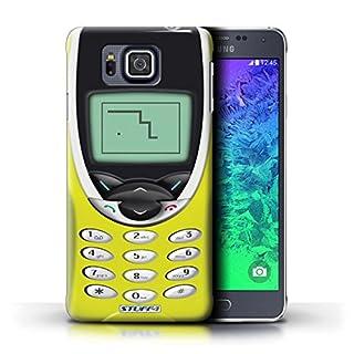 Stuff4® Hülle/Hülle für Samsung Galaxy Alpha/Gelbes Nokia 8210 Muster/Vintage Handys Kollektion