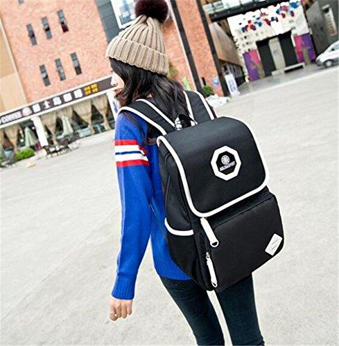 Go Further Neue Art wasserdicht Reise Jugend Teenager-Mädchen und Jungen blauen Rucksack atmen Schwarz
