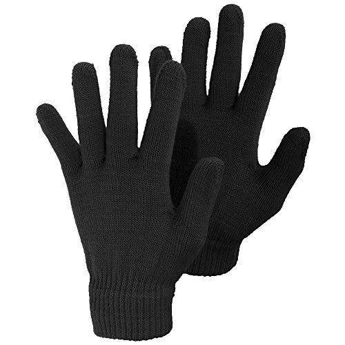 Damen Winter Magic Handschuhe (Einheitsgröße) (Schwarz) (Dehnbare Magic-handschuhe)