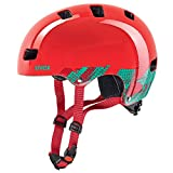 uvex Kinder Kid 3 Fahrradhelm, Rot (Blackout Red), 55-58 cm