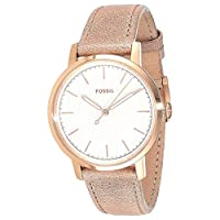 Fossil Womens Quartz Watch, Analog Display and Leather Strap ES4185