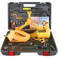 BELEY Kit de cric hydraulique électrique 12 V 3 tonnes pour Voiture avec cric de Pneu et clé à Choc électrique Protable, kit d'outils de Levage de lumière LED pour réparation d'urgence routière