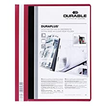 Durable 2579 A4 Duraplus folder with red back and clear front cover