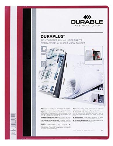 DURABLE Hunke & Jochheim Angebotshefter DURAPLUS, strapazierfähige Folie, DIN A4, rot