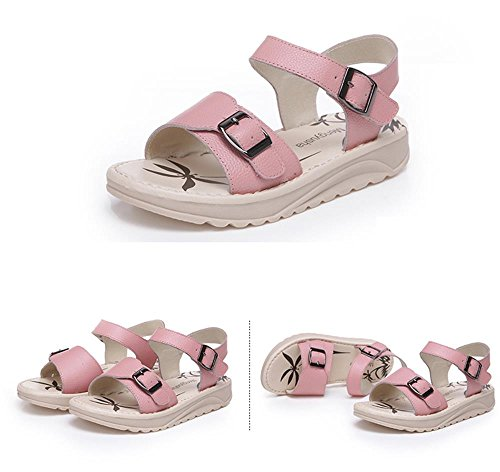 ALUK- Chaussures de plage Bottom ( couleur : Rose , taille : 38 ) Rose