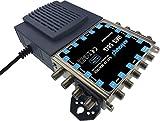 Ankaro IMS 58G Basiseinheit mit angeflanschtem Netzteil. Quad und Quattro geeignet, bis zu 8 Teilnehmer, Coax Lan ready