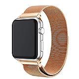 FeiliandaJJ Milanese Edelstahl Ersatzarmbänder für Apple Watch Serie 4 40MM Watch,Luxus Wasserdichtes Sport Smart Watch Zubehör Uhrenarmbänder Armbänder Watch Band (Rose Gold)