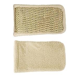 Event Waschhandschuh Doppel, Sisal und Baumwolle–1Stück
