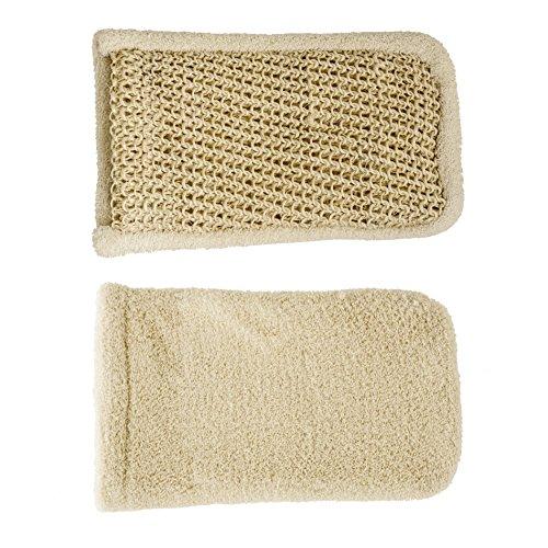 Event Waschhandschuh Doppel, Sisal und Baumwolle–1Stück (Sisal-waschlappen)