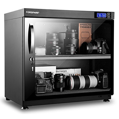 Forspark Luftentfeuchter Trocken Schrank |8W 80l-noiseless & Energiesparend-Für Kamera Objektiv und elektronischer Ausrüstung verstauen -