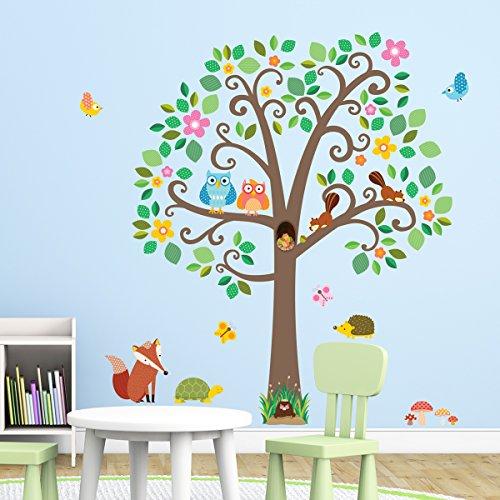 decowall-dml-1502-grandi-adesivi-con-alberi-e-animali-adesivi-da-parete-decorazioni-parete-stickers-