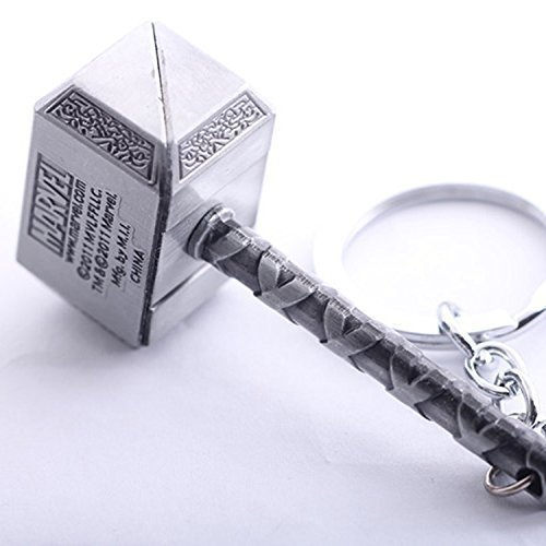 Marvel Avengers Thor\'s Hammer Zinn Schlüsselanhänger Silber