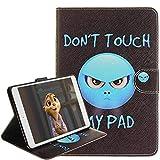 Cover per iPad Mini 1 / iPad Mini 2 / iPad Mini 3 [con il trasduttore auricolare libero], Billionn Custodia Pelle TPU Guscio Interno Cover Case per Apple iPad Mini 1 / Mini 2 / Mini 3 (rabbia)