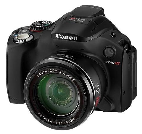 Canon PowerShot SX40 HS Digitalkamera (12 Megapixel, 35-fach opt. Zoom, 6,9 cm (2,7 Zoll) Display, bildstabilisiert) schwarz