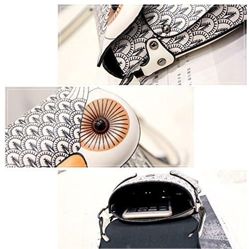 Sichyuan Qualität Mini Eule Tier geformte Frauen Leder Schulter Geldbörse, Mädchen Kleine Mode Tasche Handtaschen (3 Farben). Grau