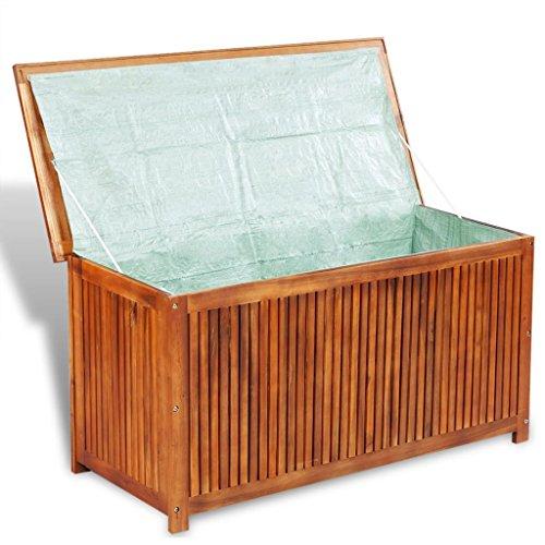 vidaXL Aufbewahrungsbox Gartentruhe Auflagenbox Akazie Holz Kissenbox Gartenbox