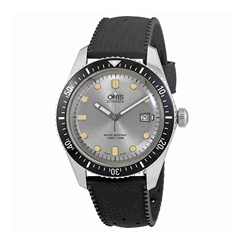 Oris Divers Sessantacinque automatico argento quadrante mens orologio 0173377204051–0742118