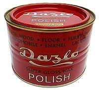 Dazlo® Floor & Furniture Wax Polish (400g) - Super Gloss Wax For Cement Floors, Marble, Mosaics, Furniture, Wooden Surface, Automobiles, Enamel, Lacquer & Laminate