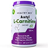 #4: HealthyHey Nutrition Acetyl L-Carnitine (Alcar) 500mg - 60 Veg Capsules