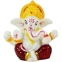 Lord Ganesha Statue Indian Poly Marmor Religiöse Ganpati Armaturenbrett-Auto-Dekor preisvergleich bei billige-tabletten.eu