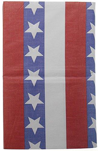 Nantucket Olde West Tischdecke, Vinyl, mit Flanellrückseite, 132 x 178 cm, Motiv Sterne und Streifen - Nantucket Vinyl